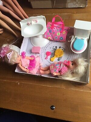 Big Barbie Sister Shelly Bundle! 2 Dolls Fully Dressed And Toilet Training Set!