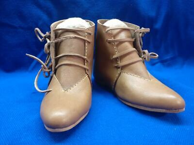 Medieval reenactment ankle boots, Medieval shoes, LARP, Renaissance, Cosplay