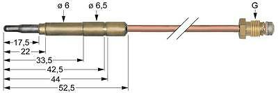 Thermocouple for Gas Stove Length 1500mm Socket Ø 6,0 (6,5)mm M9x1