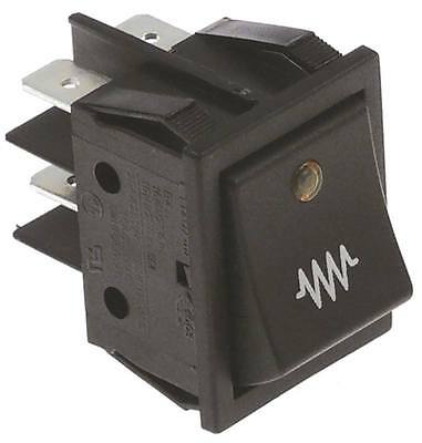 Rocker Switch for Espresso Machine with LED 2-pin 250V 2NO Yellow Lit