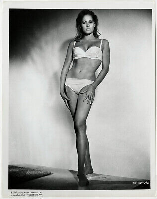Iconic Bond Girl Ursula Andress in White Bikini Dr. No 1962 Vintage Photograph