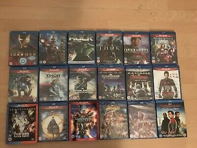Marvel 3d blu ray MCU Iron man thor guardians avengers 16 In Total New Sealed