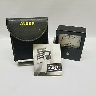 Alnor Velometer Jr Air Velocity Meter w/ Leather Case Instructions 0-500 0-2500