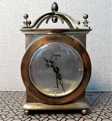 Jaccard Small French carriage alarm clock. Working order.