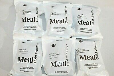 6 US Military Cold Weather Meal 2021 MRE's Mountain House,Chicken,Beef,Chowder