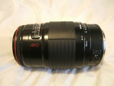 SIGMA AF APO 70-210mm 1:3.5-4.5 MC Lens For CANON EOS Cameras In CANON EF Mount
