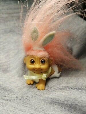 "1/"" Russ Troll Doll RABBIT NEW w//RUSS STICKER MINI BUNNY EASTER MINIATURE"
