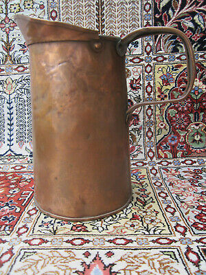 Vintage Americana Copper/ Tin Tankard Style Pitcher Hand Crafted Early 1900'S.