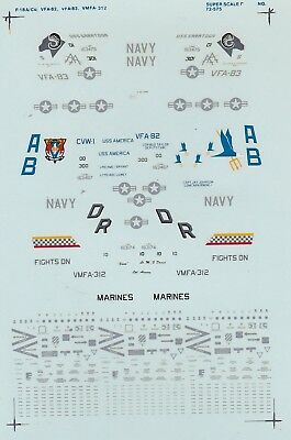 Superscale  decals 1//48 48-698 F//A-18A//C Hornets VSA-115 Eagles 112 Cowboys N125