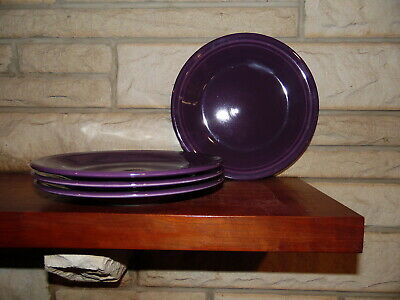 Fiesta 10.5 Dinner Plates in Mulberry set of 4 NEW  Fiestaware