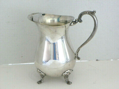 Sheridan Silverplate Footed Large Pitcher Claw Foot Water Dam