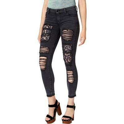 Vince Camuto Womens Green Lace-Up Denim Skinny Jeans 32 14 BHFO 7517