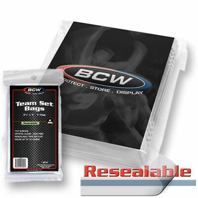 500 BCW RESEALABLE TEAM SET BAGS Card Sleeve Holders PRO ULTRA GAMING