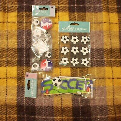 Soccer Scrapbooking Stickers Lot Jolees Balls Whistle Jersey Cute Sports