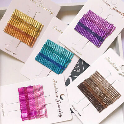 24pcs Candy Color Hair Clips Bobby Pins Accessories Wavy Hairpins Barrettes