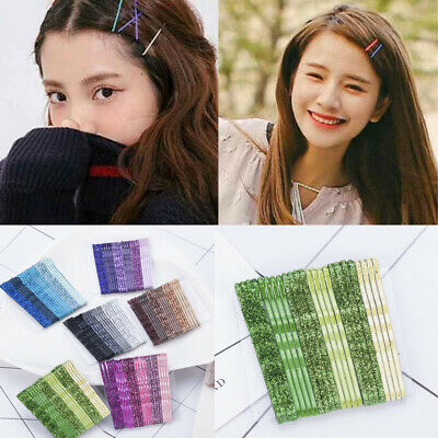 Fashion Girls Candy Color Hair Clips Bobby Pins Wavy Hairpins Metal Barrettes