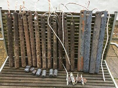 Cast Iron Sash Window Weights Assorted x 26 + Victorian Pulley/Rollers x 4