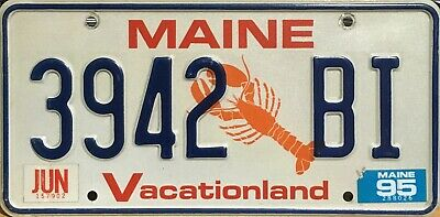 USA Number Licence Plate MAINE LOBSTER