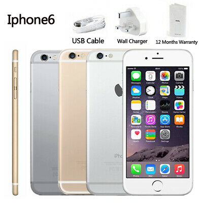 Factory Unlocked New Smartphone Apple iPhone 6 16GB 64GB 128GB Grey Silver Gold