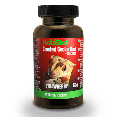 HabiStat Crested Gecko Diet Real Strawberry With Added Crickets 60g