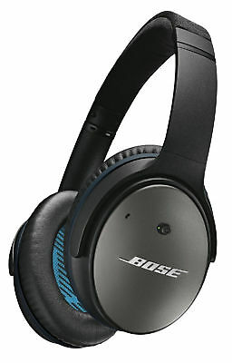 Bose Quiet Comfort 25 Over Ear Headphones Earphones Black NEW QC25 iPhone iPod