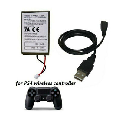 For PS4 Controller 2000mAh Replacement & Charging Cable 1X Rechargeable Battery