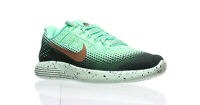 finest selection 171ce 4eff3 Nike Womens Lunarglide 8 Green Glow Mtlc Running Shoes Size 5