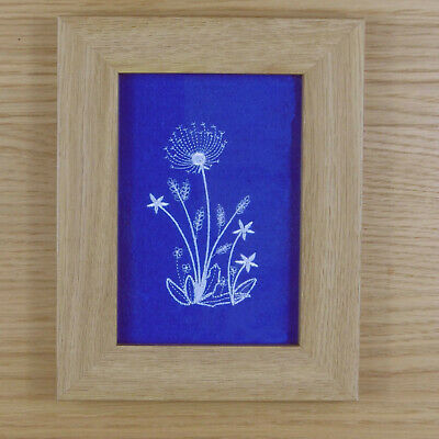 Delicate Dandelion Stems - Framed Embroidery
