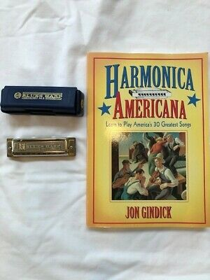 """Harmonica - Hohner Blues Harp In """"C"""" Key and instruction book"""