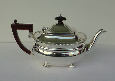 Teekanne ART DECO 925er Sterling Silber (ADIE BROTHERS, Chester) MINT CONDITION!