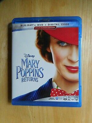 Mary Poppins Returns Blu-Ray w/Digital Code and Case No DVD