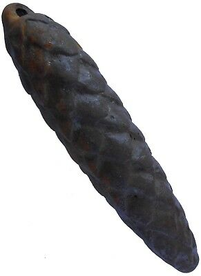 ANTIQUE Cone Weight for OLD Cuckoo clock IRON Metal Heavy 140x35 mm