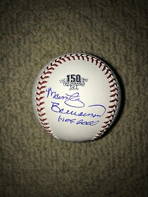 Marty Brennaman Reds Hof Signed Autographed Official 150Th Anniversary Baseball