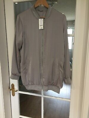 George Silver/grey Light Jacket Size 14 New With Tags