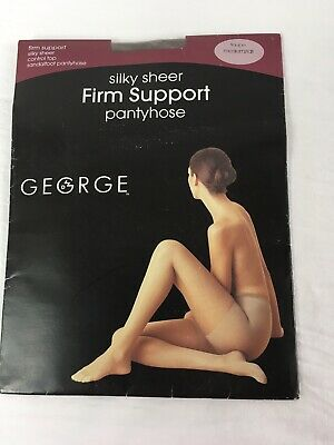 1a986cad77a17 George Silky Sheer Firm Support Pantyhose Control Top Medium/Tall Taupe
