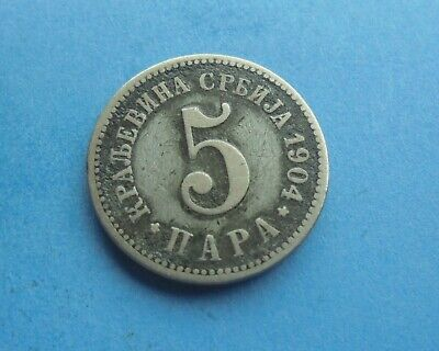 Serbia, 5 Para 1904, in Good Condition.