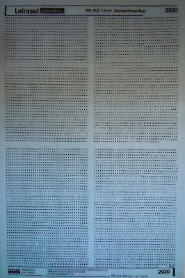 LETRASET Black LETTER Transfers DIN 16 (italics) 1.8mm (#2920) NEW