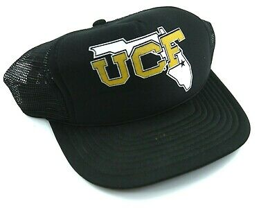 timeless design 8f106 81ce6 VINTAGE 80s UCF black hat trucker SNAPBACK University of Central Florida  KNIGHTS