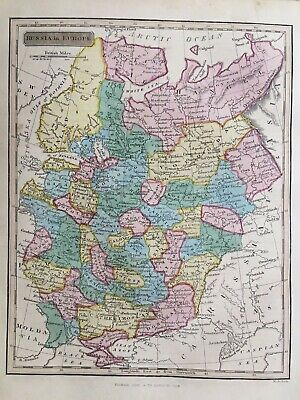 1839 Antique Map; Russia in Europe by Samuel Neele