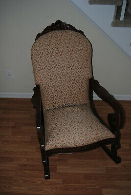 ANTIQUE ROSE PRINT ROCKER (Good Condition) Local Goose Creek SC Pickup Only!