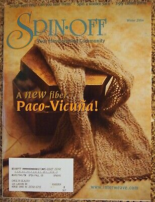 Spin-Off Magazine WINTER 2004: Paco-Vicuna, Cotton Tee, Long Draw, Cabled Yarn