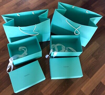 4f1be7ee522 GENUINE TIFFANY & CO 2 Large Empty Gift Boxes With Gift Bags ~ Nice!