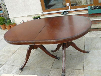 Vintage Victorian / Georgian Style Oval Dining Table Claw Foot Mahogany Solid