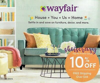 ➜SENT AFTER PAYMENT! Wayfair 10% off Entire Purchase (First Order) Exp August 15