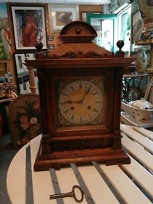 Good antique large bracket or mantle clock. 16 inches (40cm)
