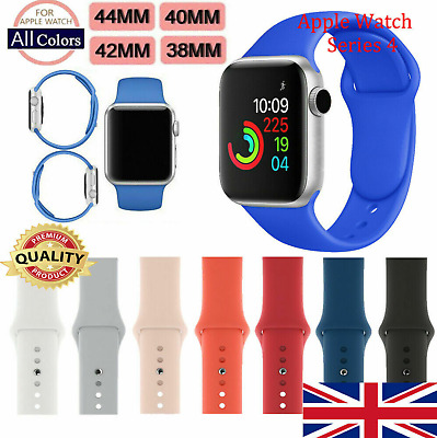 Silicone Bracelet Sports Band Strap For Apple Watch Series 4/3/2/1 38/40/42/44m