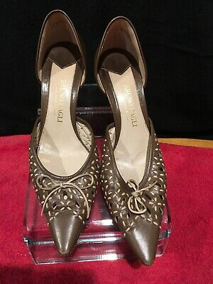 04c34d7df Bruno Magli Women's D'Orsay Pointy Toe Pumps Brown Tan Heels Made Italy