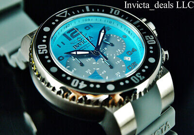 Invicta Men's 52mm Pro Diver Ocean Voyager Chronograph Ocean Blue Dial SS Watch