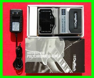 DigiTech HT-6 PolyChromatic Guitar Tuner w/ Box, Manual, 9v AC Adapter USA*Mint*