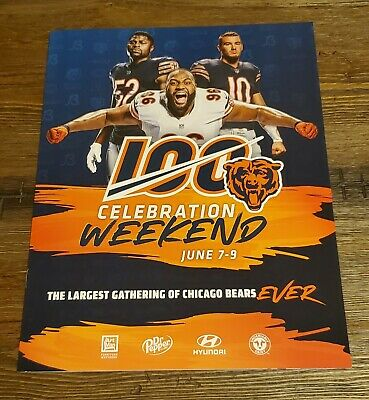 2019 Chicago Bears 100 Celebration Weekend Convention Official Program